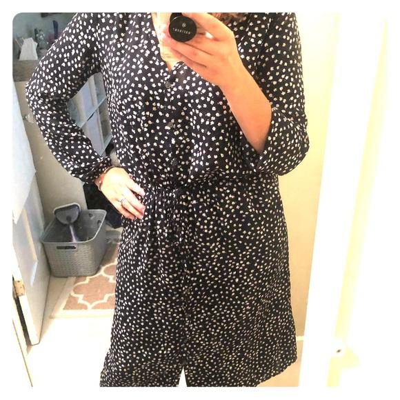 GAP Dresses & Skirts - GAP floral dot midi shirt dress